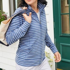 L.L. Bean Striped Zipper Up Active Jacket